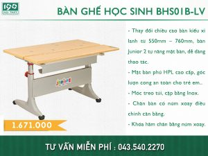 Bàn ghế học sinh BHS01B-LV