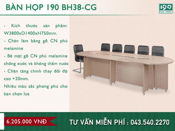 Mẫu bàn 190 BH38-CG