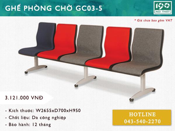 Ghế phòng chờ GC03-5
