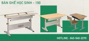 Bàn ghế học sinh 190