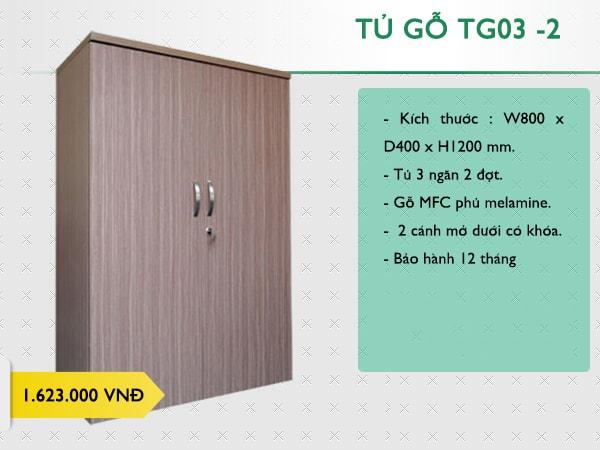 Tủ gỗ văn phòng 190 TG03 -2