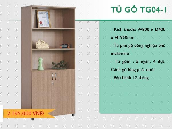Tủ tài liệu gỗ 190 TG04-1