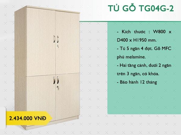 Tủ tài liệu gỗ văn phòng TG04G-2
