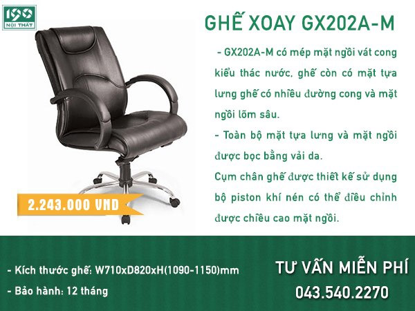 Ghế xoay GX202A-HK