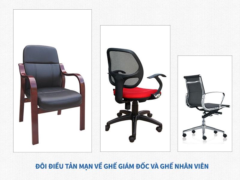 Đôi điều tản mạn về ghế giám đốc và ghế nhân viên