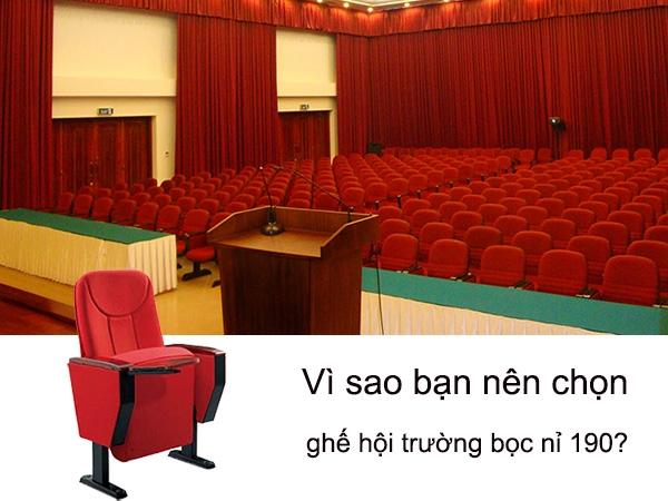 Vì sao bạn nên chọn ghế hội trường bọc nỉ 190?