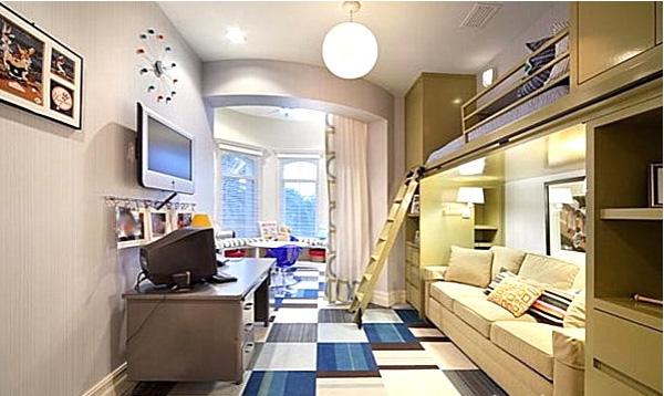 Giường ngủ hiện đại cho tầng áp mái