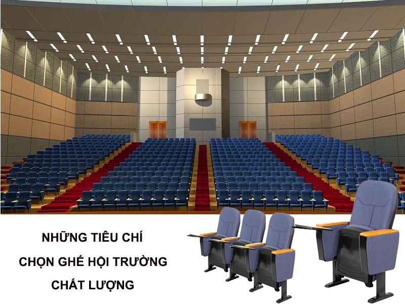 Những tiêu chí chọn ghế hội trường chất lượng