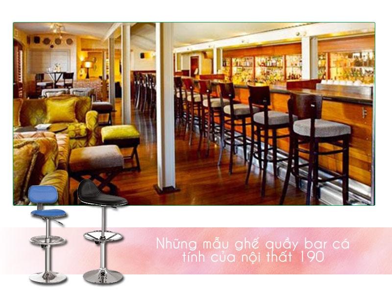 Ghế quầy bar 190: Đầy cá tính và đẳng cấp