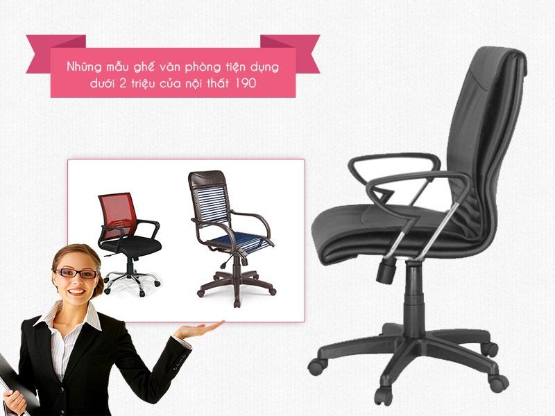 Những mẫu ghế văn phòng giá rẻ tiện dụng của nội thất 190