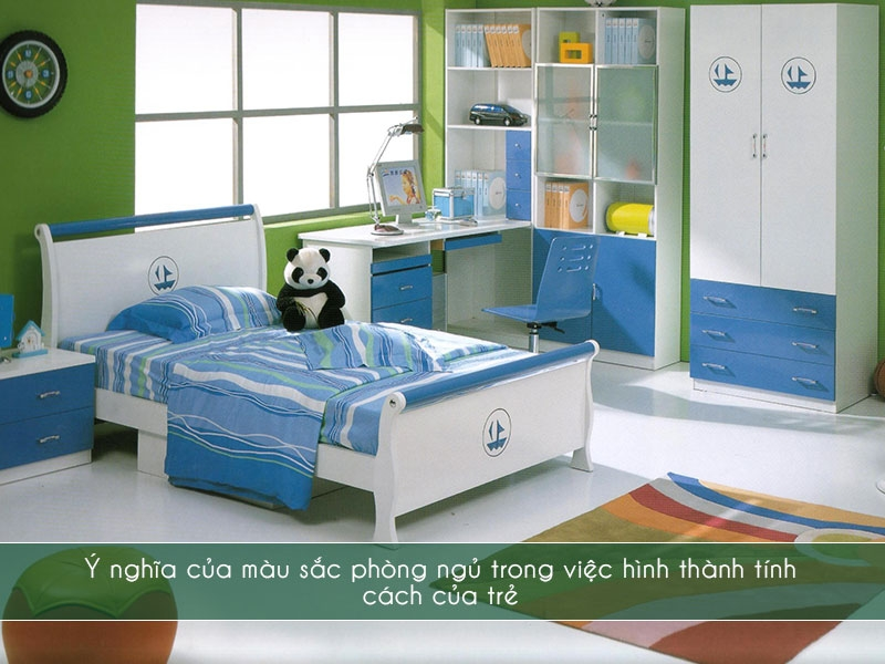 Màu sắc phòng ngủ trong việc hình thành tính cách của trẻ