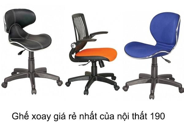 Thông tin về những loại ghế xoay giá rẻ nhất của nội thất 190
