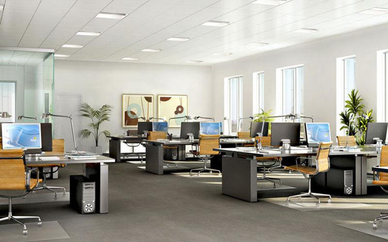Phòng làm việc cần bài trí đủ ánh sáng
