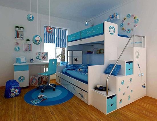 Phòng ngủ đẹp mê ly với giường tầng cho bé