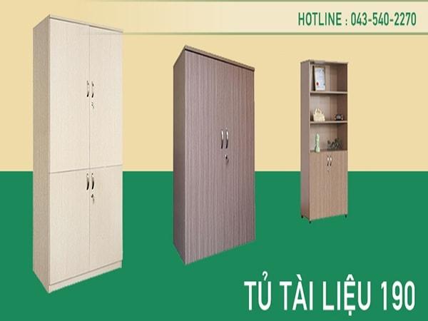 Phân loại tủ tài liệu 190 theo chất liệu