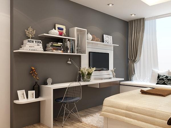 Bố trí bàn làm việc trong phòng ngủ như thế nào?