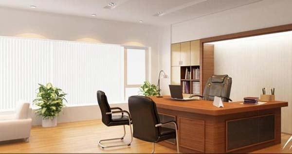 Điểm nhấn của phòng giám đốc chính là bàn làm việc văn phòng
