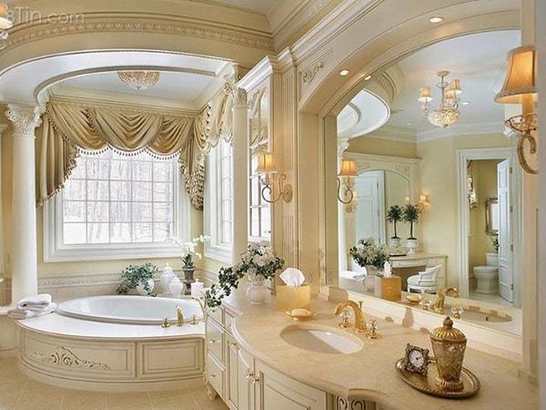 Thiết kế phòng tắm theo phong cách sang trọng
