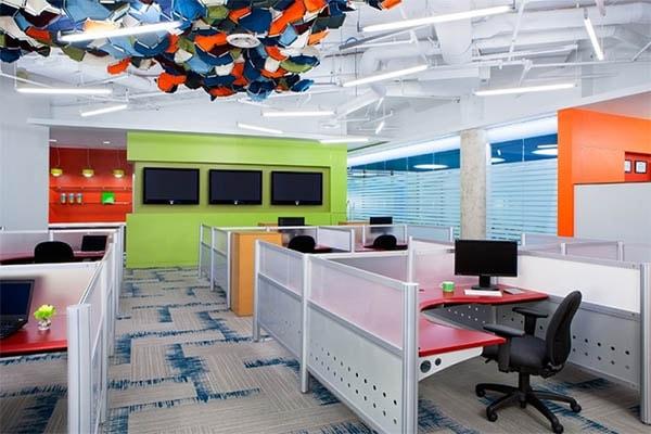 >Yếu tố màu sắc trong bài trí văn phòng