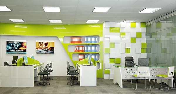 Dùng màu sơn nhạt cho khu vực nhân viên kỹ thuật