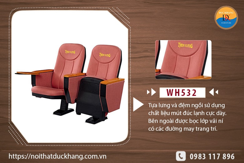 Ghế hội trường nhập khẩu WH532
