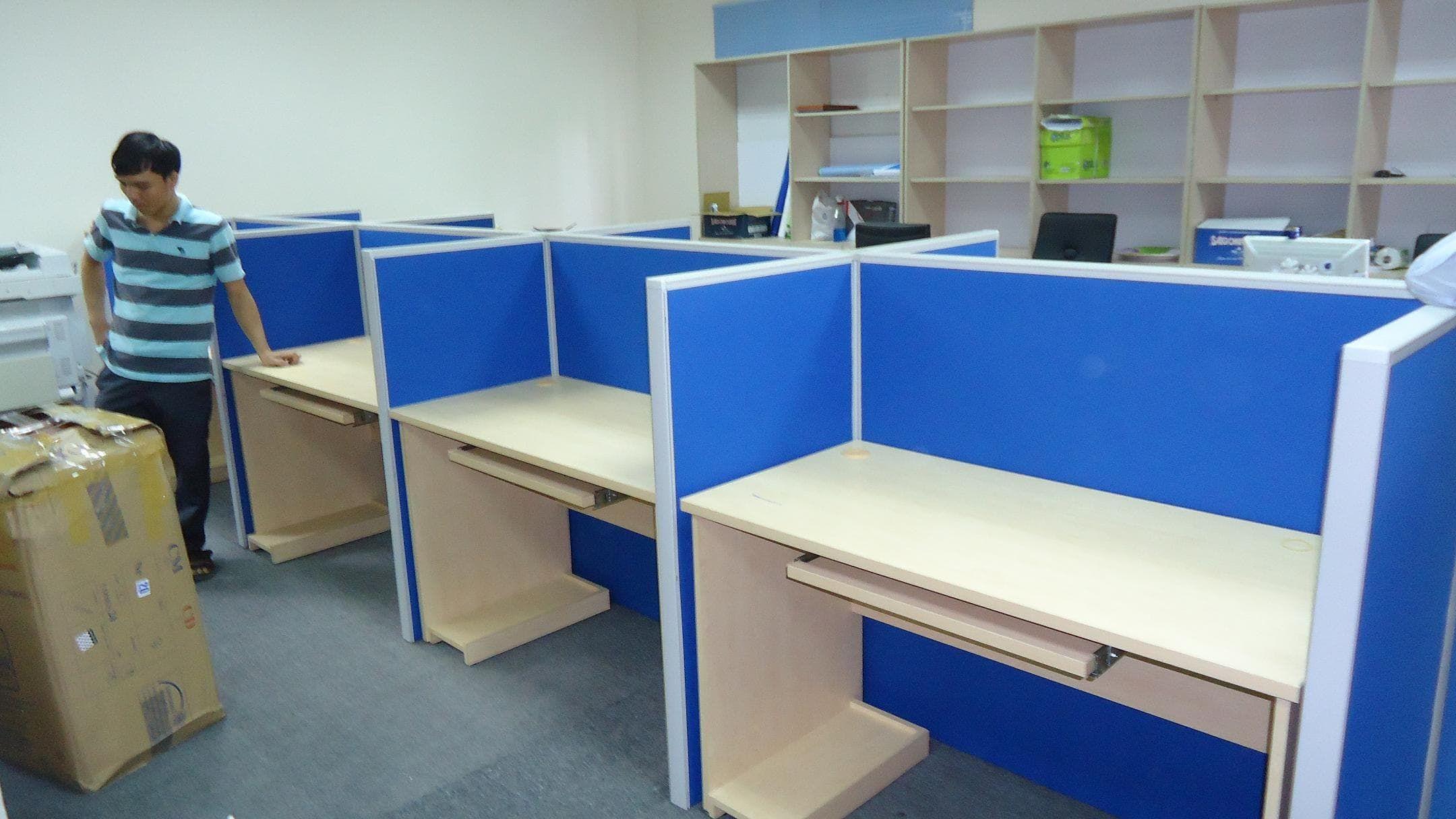 Lựa chọn vách ngăn nỉ cho phòng làm việc