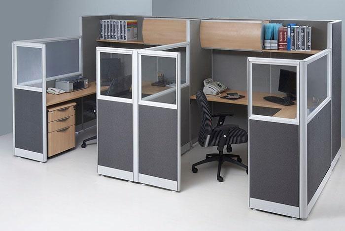 Vách ngăn văn phòng nỉ thường dùng trong phòng làm việc