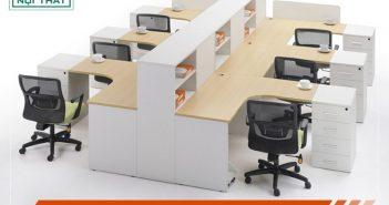 Bàn làm việc hình chữ L đem lại những ưu điểm gì cho văn phòng?