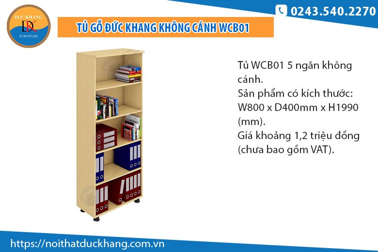Tủ 5 ngăn không cánh WCB01