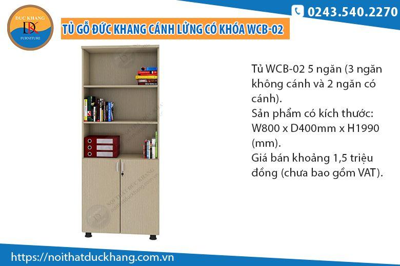 Tủ 5 ngăn cánh lửng có khóa WCB-02