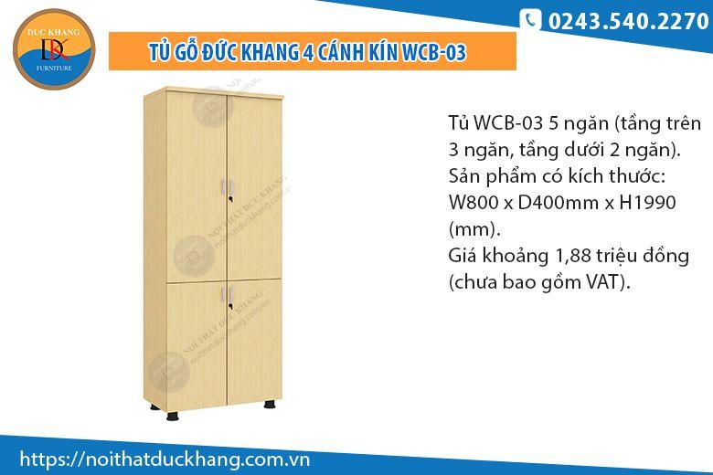 Tủ 5 ngăn cánh kín WCB-04