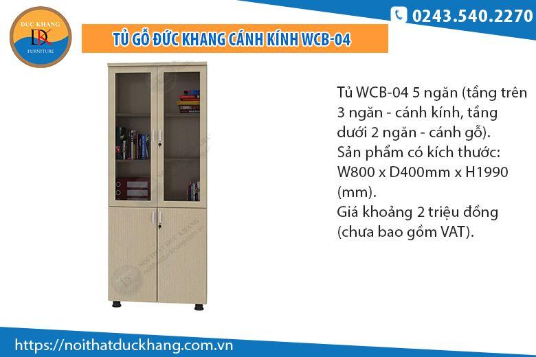 Tủ 5 ngăn cánh kínhWCB-04