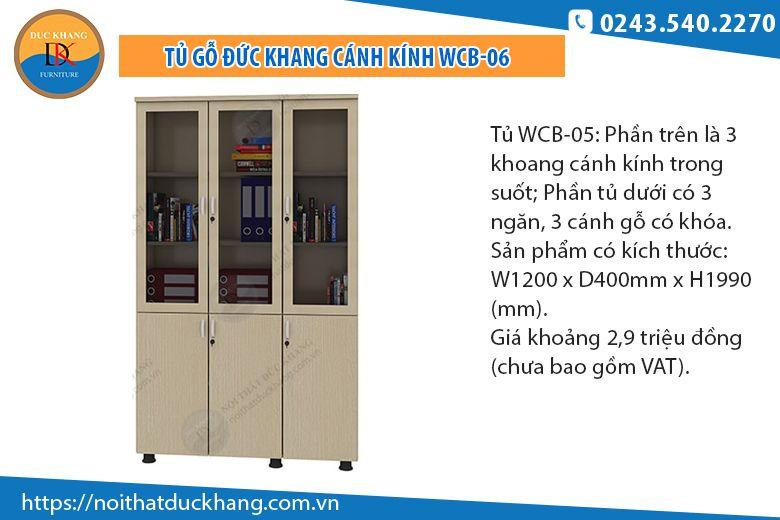 Tủ 3 buồng 3 cánh kính WCB-06