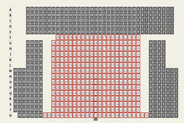 Cách đánh số theo hàng ngang trong hội trường