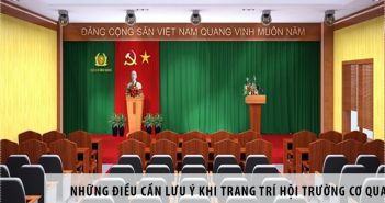 những điều cần lưu ý khi trang trí hội trường cơ quan
