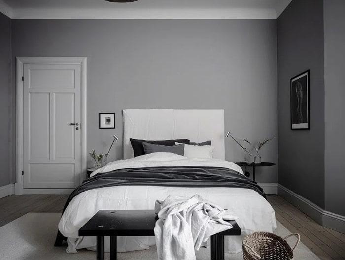 Phòng ngủ màu ghi