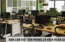 3 mẫu bàn làm việc văn phòng có vách ngăn giá rẻ